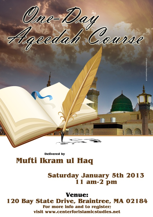 One-Day Aqeedah course usa dec 12